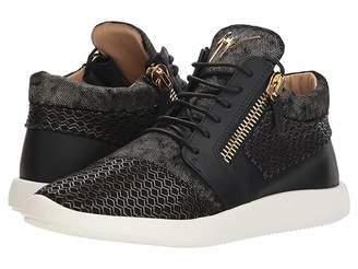 Giuseppe Zanotti Singles Cupsole Mixed Texture Mid Top Sneaker