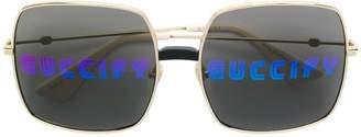 Gucci 'Guccify' oversized sunglasses