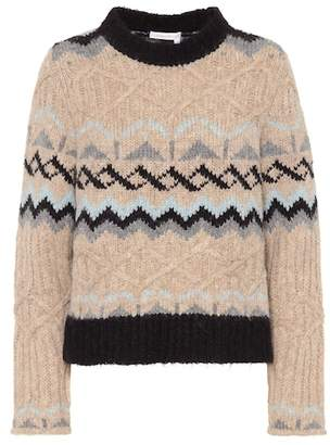 See by Chloe Alpaca and wool blend sweater