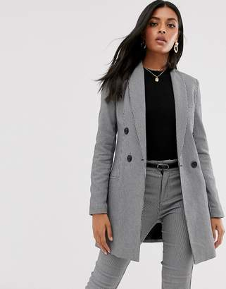 Stradivarius double breasted blazer/dress in dog tooth