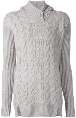 Loro Piana cable knit hooded sweater