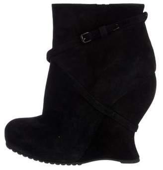 Bottega Veneta Suede Wedge Boots