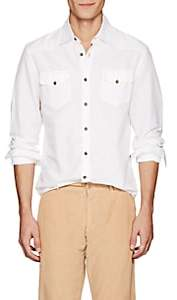Tomas Maier MEN'S COTTON-LINEN WESTERN SHIRT-WHITE SIZE L