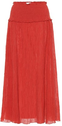 Zimmermann Veneto cotton-blend maxi skirt