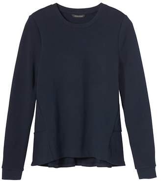 Banana Republic Petite French Terry Ruffle-Back Couture Sweatshirt