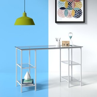 Hashtag Home Arinda Glass Writing Desk Hashtag Home