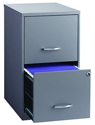 "Office Dimensions 18"" Deep 2 Drawer Metal File Cabinet"