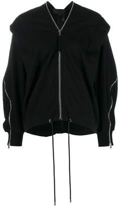 Diesel Black Gold draped zip-detail jumper
