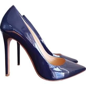 Gianmarco Lorenzi Blue Leather Heels
