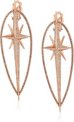 "Michael Kors Brilliance"" Starburst Pave -Tone Statement Drop Earrings"