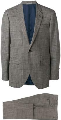 Hackett checked formal suit