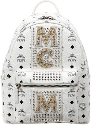 MCM Stark Stripe Crystal Studded Small Visetos Backpack