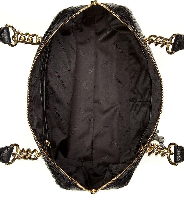 Calvin Klein Handbag, Byron Bay Pebble Leather Satchel
