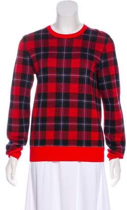 Equipment Plaid Wool Sweater