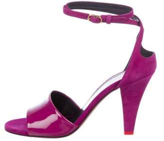 Celine Céline Suede Wrap-Around Sandals Violet Céline Suede Wrap-Around Sandals
