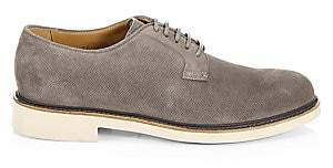 Giorgio Armani Men's Derby Perforated Suede Loafers