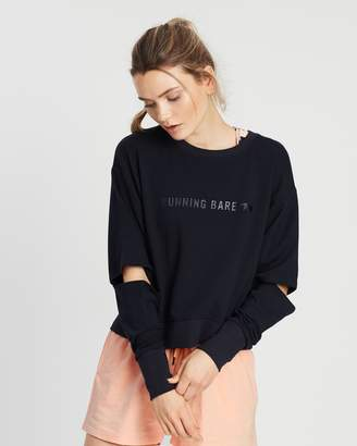 Running Bare Cut It Out Cropped Sweat Top