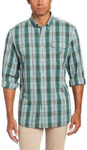 Nautica Men's Long Sleeve Poplin Multi Plaid Shirt