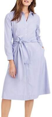J.Crew Sybil Tie Waist Cotton Shirt Dress, Peri