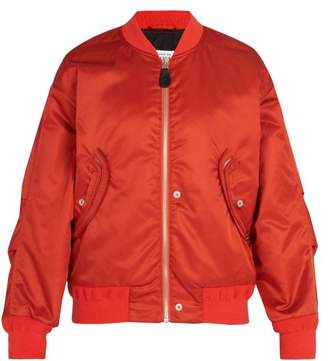 Maison Margiela Satin Bomber Jacket - Mens - Orange