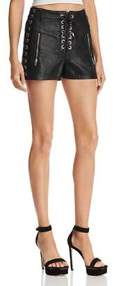 Blank NYC BLANKNYC Lace-Up Faux Leather Shorts
