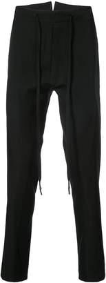 Nude regular trousers