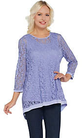 Susan Graver Stretch Lace Tunic with LiquidKnit Tank