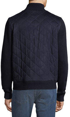 Neiman Marcus Men's Quilted Zip-Front Jacket
