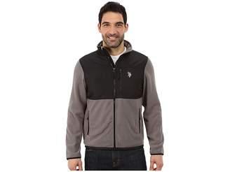 U.S. Polo Assn. Polar Fleece Mock Neck Jacket Men's Coat