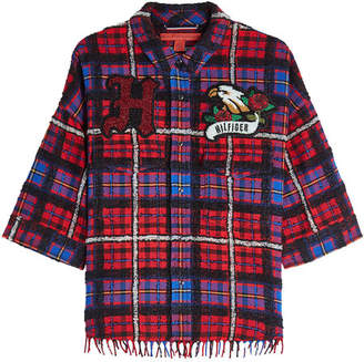 Tommy Hilfiger Plaid Shirt with Wool and Alpaca