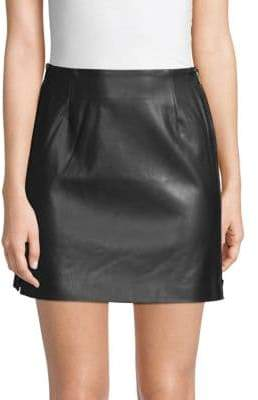 French Connection Brishen Faux Leather Mini Skirt