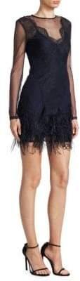 Cinq à Sept Amabella Feather Dress