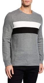 Men's Comfort Knit Long-Sleeve Striped Sweater