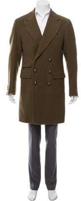 Ermanno Scervino Double-Breasted Wool Overcoat