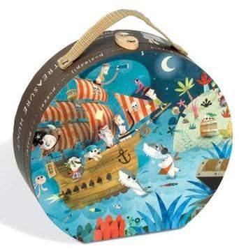 Janod Pirate Treasure Hunt 36 Piece Hat Boxed Puzzle