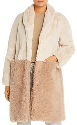 Marella Tevere Color-Blocked Faux-Fur Teddy Bear Coat - 100% Exclusive