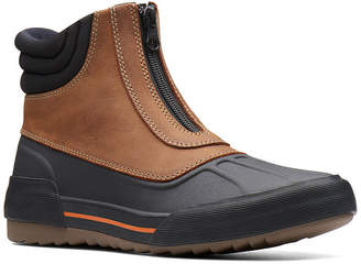 Clarks Womens Gilby Cherry Winter Boots Flat Heel Zip