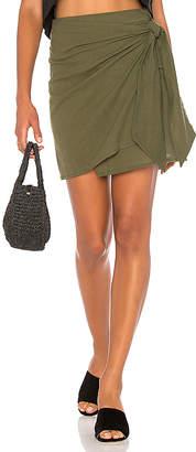 FAITHFULL THE BRAND Acadia Skirt In Plain Khaki in Green $119 thestylecure.com