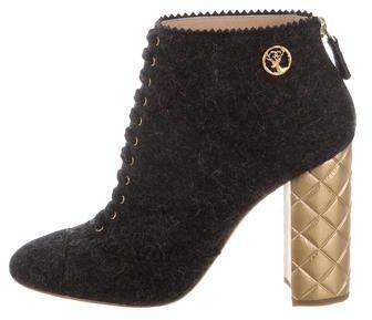 Chanel Paris-Salzbug Felt Booties