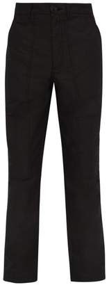 Givenchy Mid Rise Cotton Blend Cargo Trousers - Mens - Black