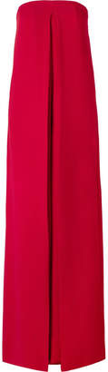 Valentino Draped Silk-crepe Jumpsuit - Red