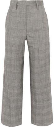 Bassike Checked Wool Straight-leg Pants - Gray