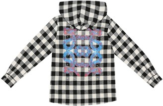 Marcelo Burlon County of Milan Kids Of Milan Checked cotton-blend hooded shirt
