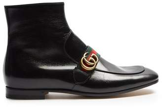 Gucci - Donnie Leather Boots - Mens - Black