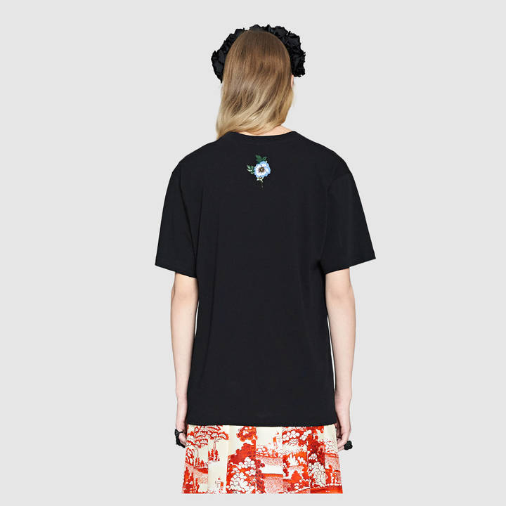 Gucci print cotton t-shirt 9