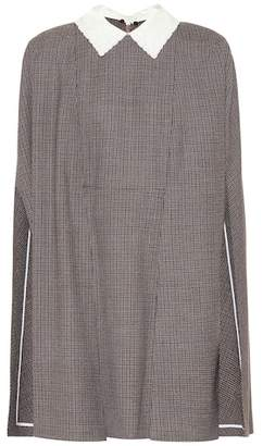 Fendi Checked wool minidress