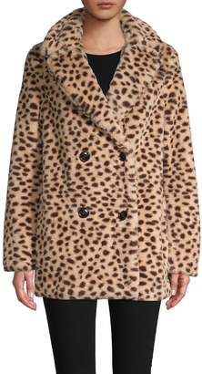 Saks Fifth Avenue Leopard-Print Faux Fur Coat