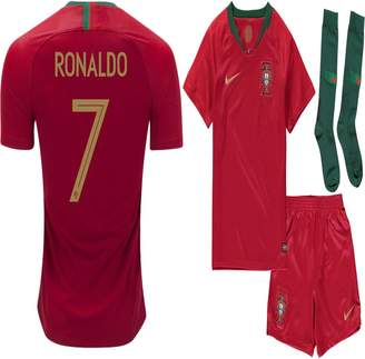 WC2018 World Cup 2018 Portugal C. Ronaldo Home Jersey Kit : Shirt, Short, Socks (Size 24 (7-8 Years Old))