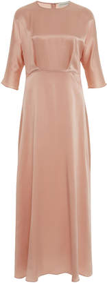 Mansur Gavriel A-Line Silk Maxi Dress