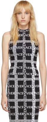 Versace Black Knit Logo Tank Top
